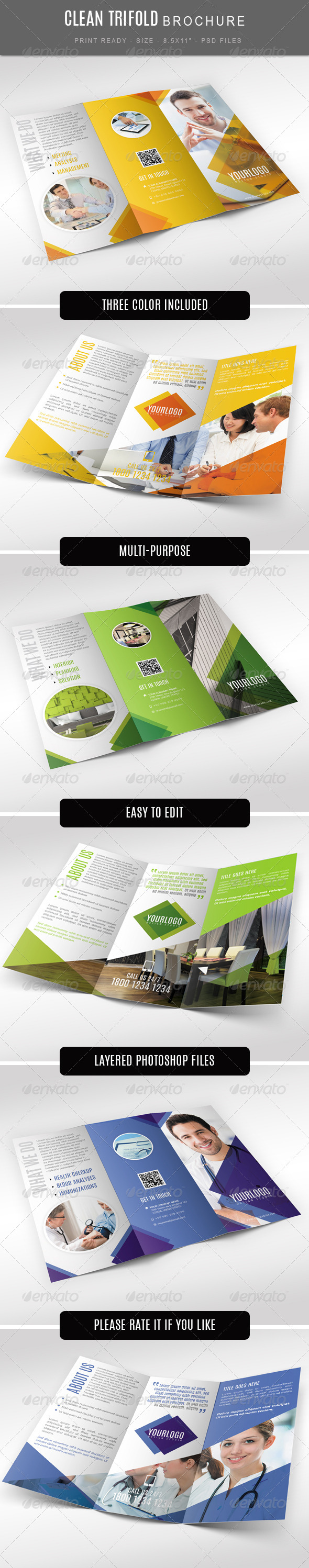GraphicRiver Multi Purpose Tri Fold Brochure 7533313
