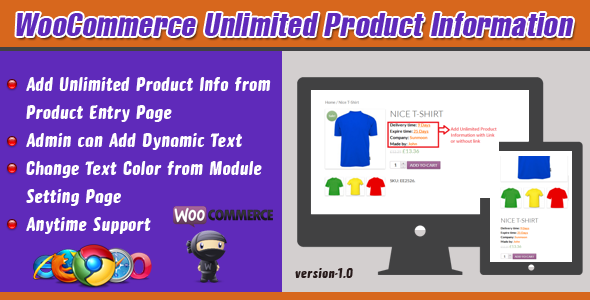 CodeCanyon WooCommerce Unlimited Product Information 7533499