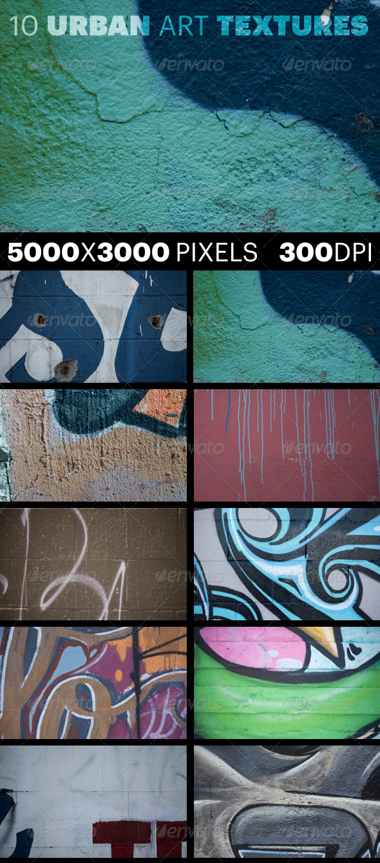 GraphicRiver 10 Urban Art Textures Volume 1 7526322