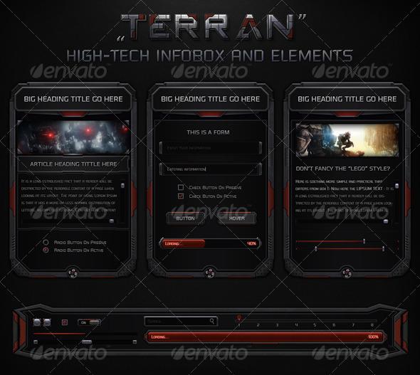 GraphicRiver Terran High-Tech Information Box 7533982