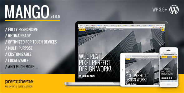 ThemeForest Mango Responsive Multipurpose creative WP Theme 7474839