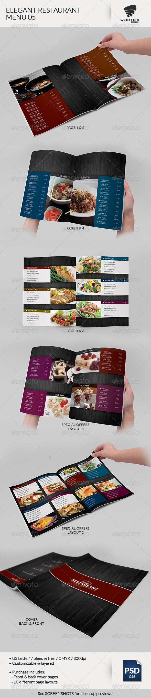 GraphicRiver Elegant Restaurant Menu 05 7533991