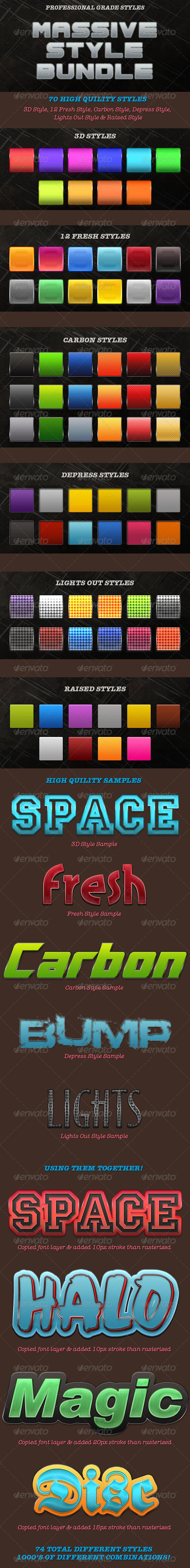 Massive Style Bundle - Styles Photoshop