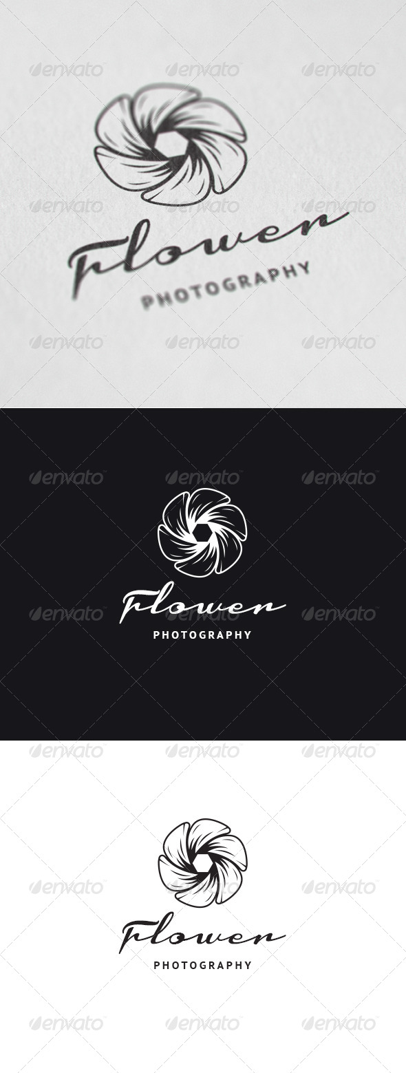 GraphicRiver Flower Photography Logo 7534331