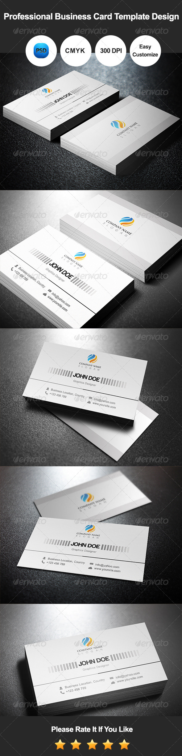 GraphicRiver Professional Business Card Template Design 7535042