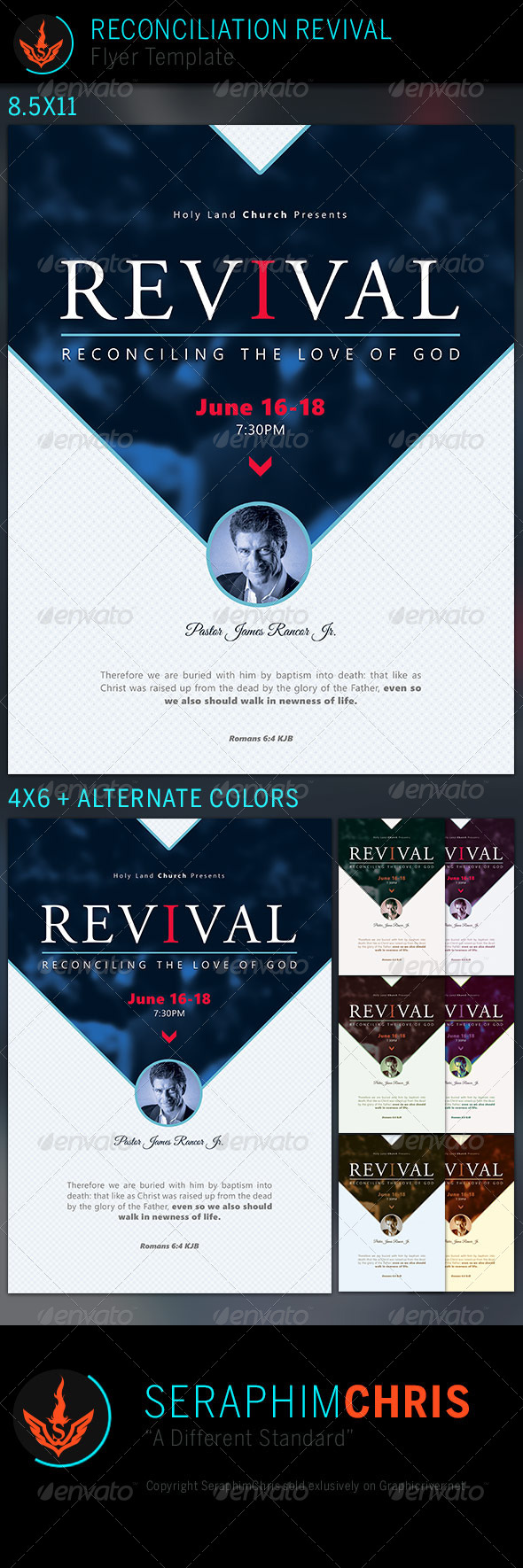 GraphicRiver Reconciliation Revival Church Flyer Template 7535225