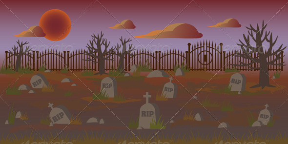 GraphicRiver Cemetery Background 7535409