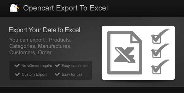 CodeCanyon Opencart Export To Excel 7536136