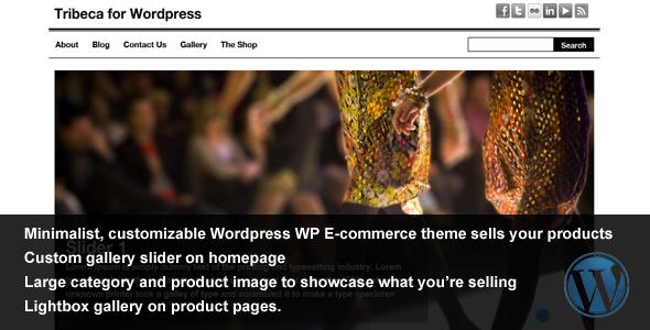 Tribeca Wordpress - WP E-commerce Theme