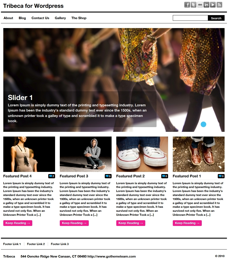 Tribeca Wordpress - WP E-commerce Theme