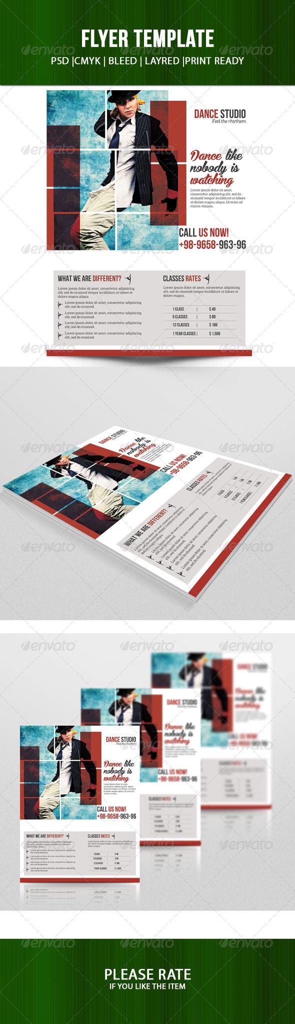 GraphicRiver Dance Studio Flyer 7537001