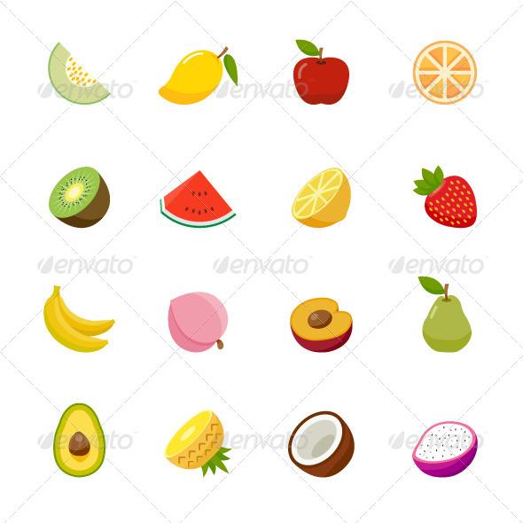 GraphicRiver Fruit Icon Flat Design 7540003