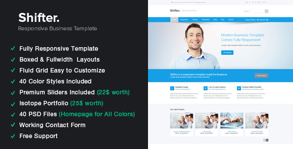 Shifter - Responsive HTML5 Template