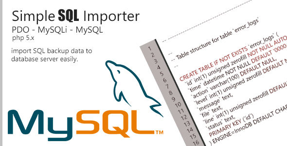 CodeCanyon SQL Importer PHP Class 7513276