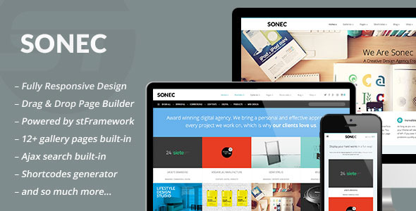 Sonec - Business, Portfolio and Photography Theme