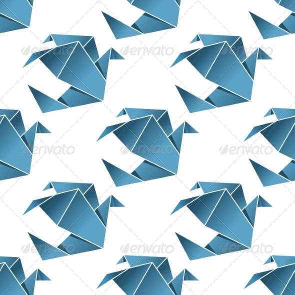 GraphicRiver Origami Birds Pattern 7541293