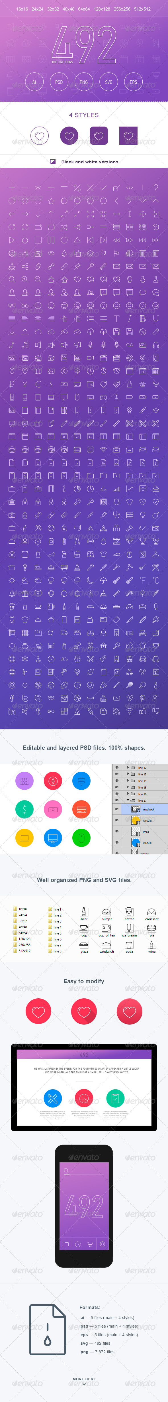 GraphicRiver The Line Icons 492 7541295