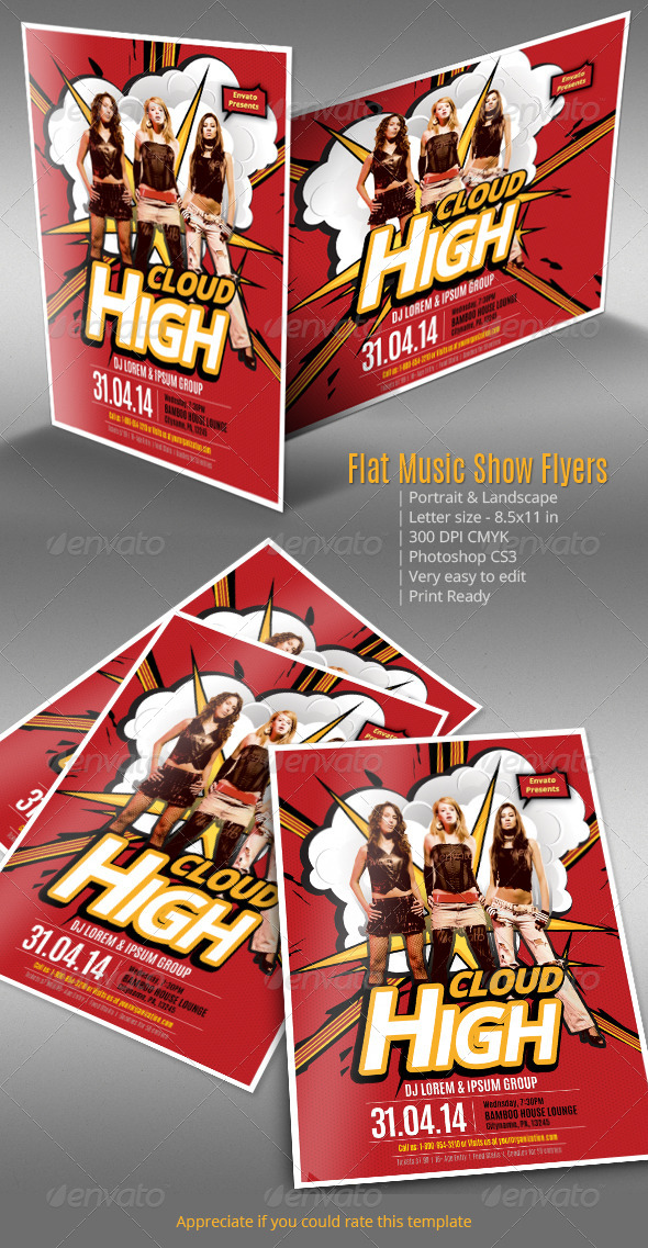 Flat Music Show Flyers