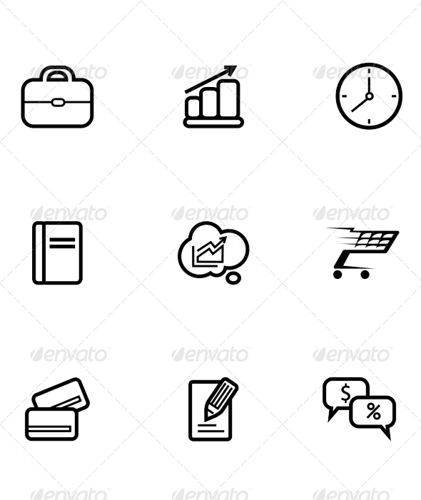 GraphicRiver Set of Business and Shopping Icons 7541667