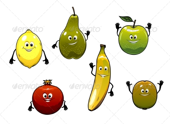 GraphicRiver Fruit Cartoon 7541677
