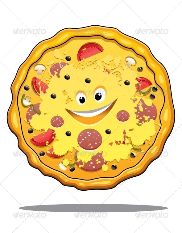GraphicRiver Pizza Cartoon 7541681