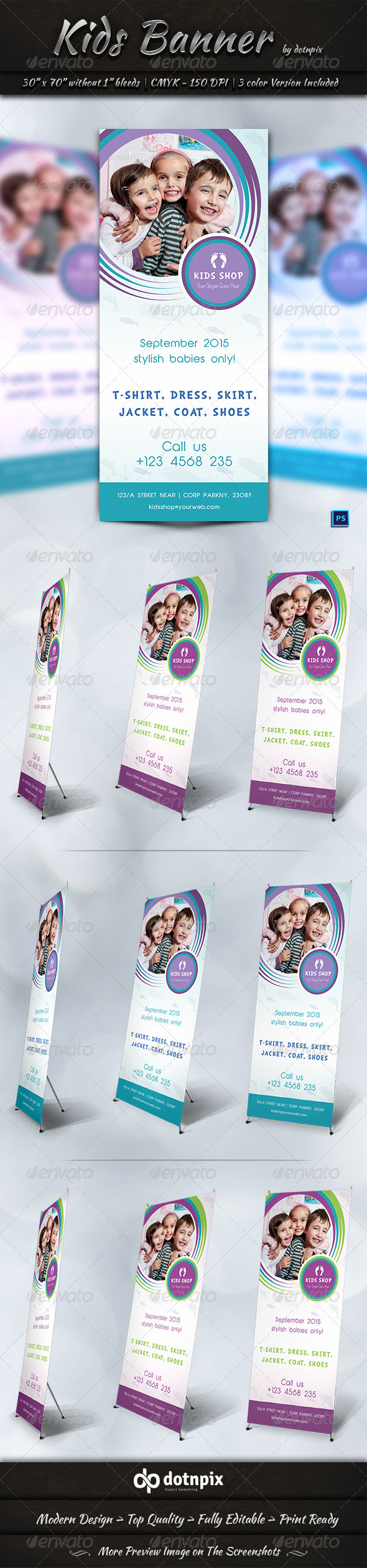 GraphicRiver Kids Banner Template 7542297