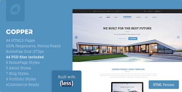 Copper - Multipurpose Responsive HTML5 Template - Corporate Site Templates