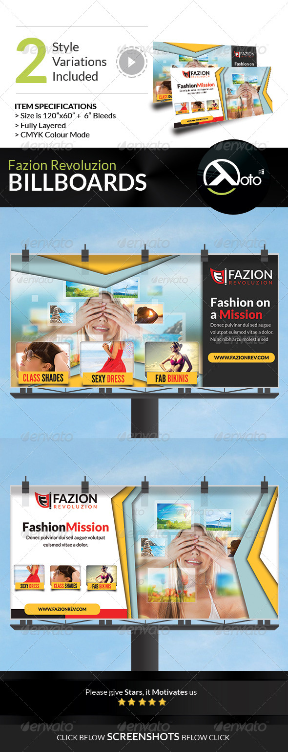 GraphicRiver Fashion Revolution Sale Billboard Signage 7543067