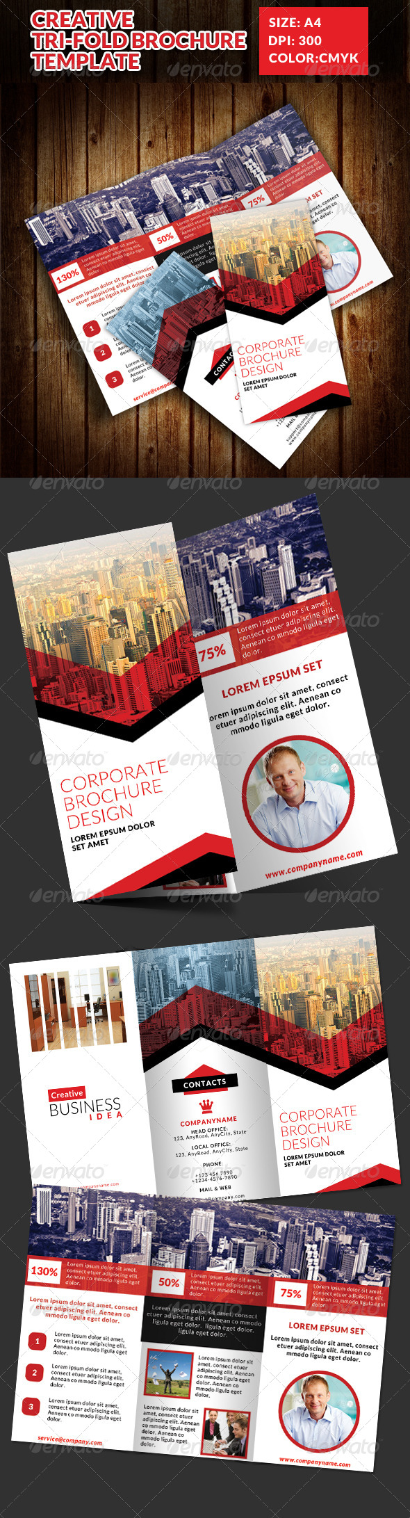 GraphicRiver Creative Tri-Fold Brochures Template 2 7543399
