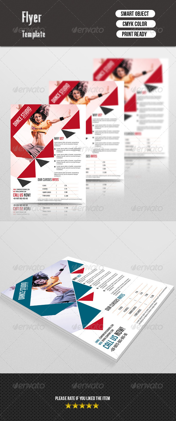 GraphicRiver Dance Studio Flyer 7543404