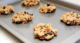 Pecan and chocolate chunk cookies