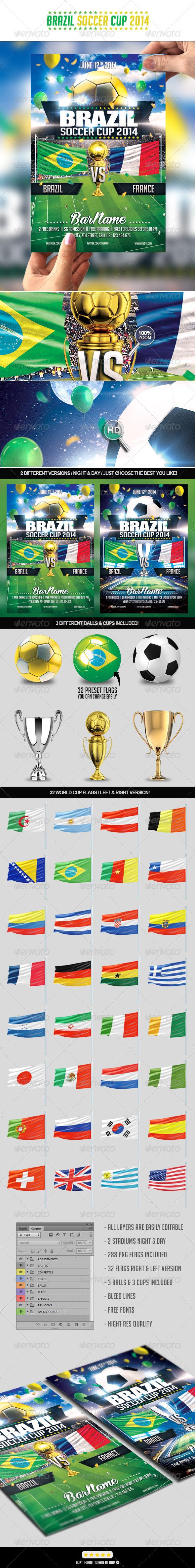 GraphicRiver Brazil Soccer Cup 2014 7544452