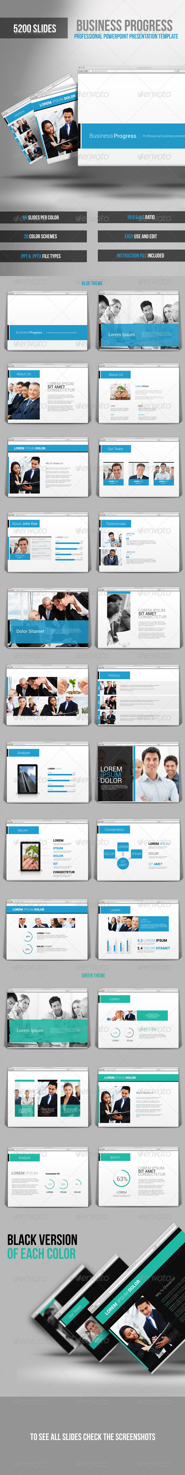 GraphicRiver Business Progress Powerpoint Presentation Template 7544538