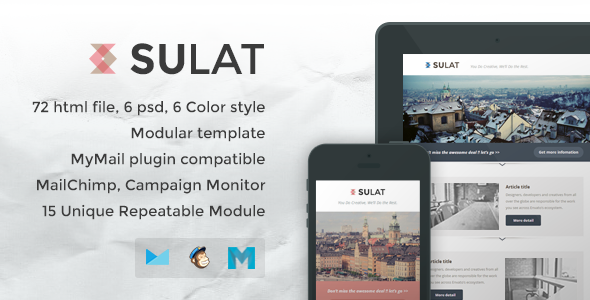 ThemeForest Sulat Responsive Email Template 7544603