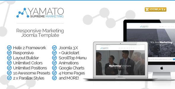 ThemeForest Yamato Responsive Marketing Joomla Template 7459992