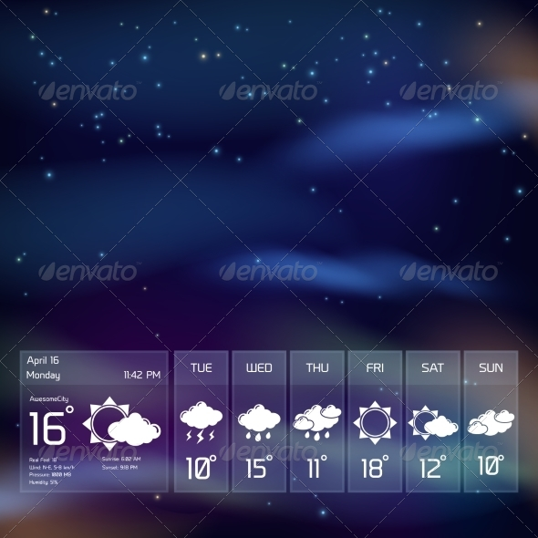 GraphicRiver Transparent Weather Widget 7544894
