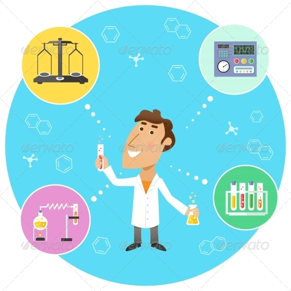 GraphicRiver Scientist Chemist in Lab 7544947