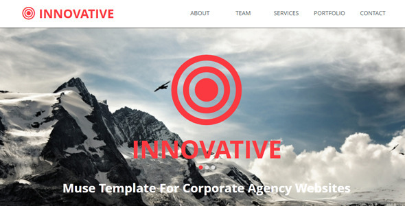 Innovative Muse Template - Corporate Muse Templates