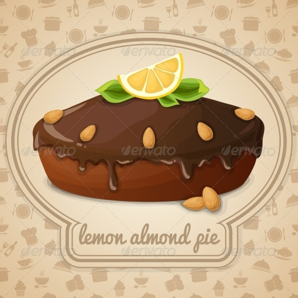 GraphicRiver Lemon Almond Pie 7545138