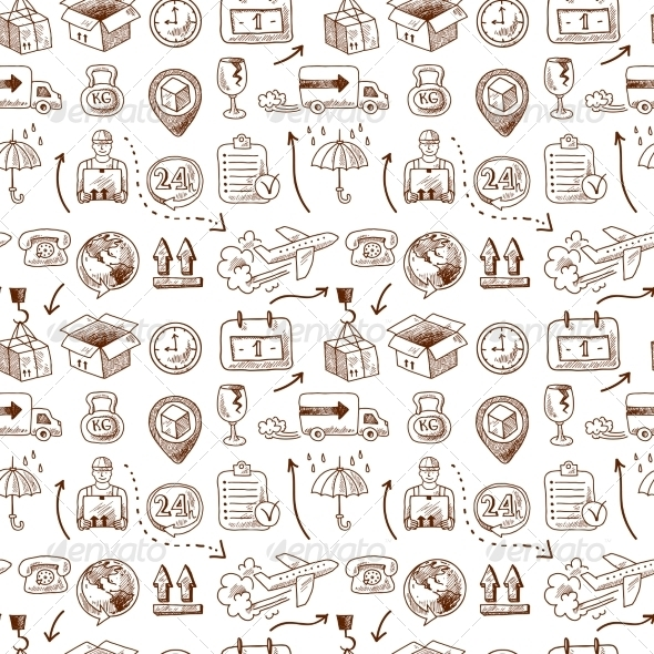 GraphicRiver Logistic Icons Pattern 7545261