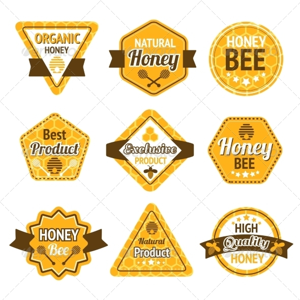 GraphicRiver Honey Labels Set 7545292