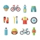 Bicycle Sports Icons Set - GraphicRiver Item for Sale