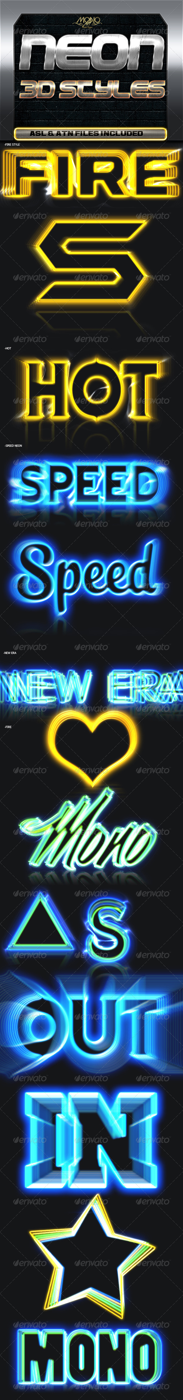 GraphicRiver Neon 3D Styles 7545394