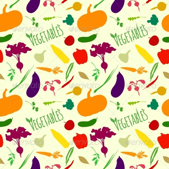 GraphicRiver Vegetables Pattern 7545421