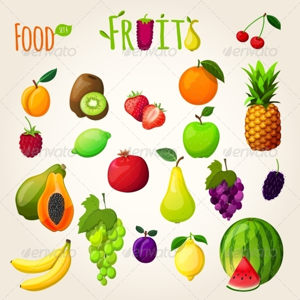 GraphicRiver Fruits Set 7545423