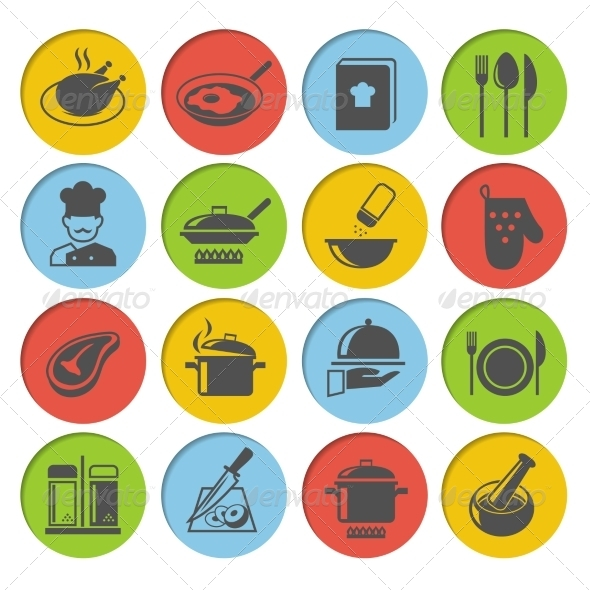 GraphicRiver Cooking Icons Set 7545464