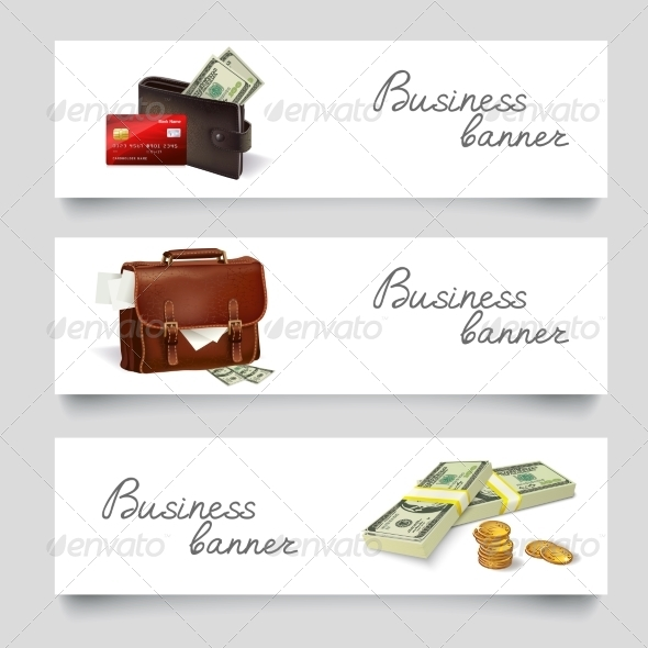 GraphicRiver Briefcase Money Business Banners 7545518