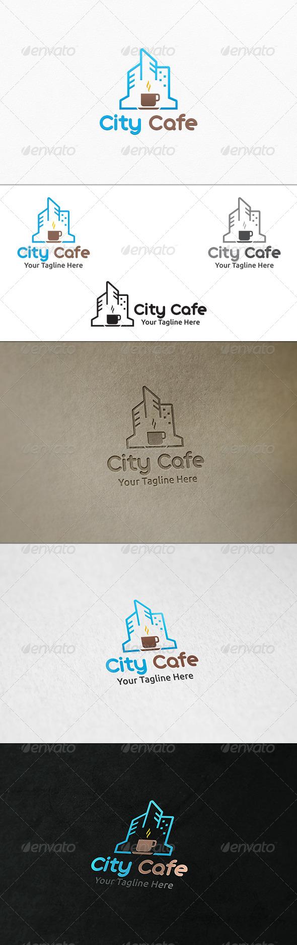 GraphicRiver City Cafe Logo Template 7545808