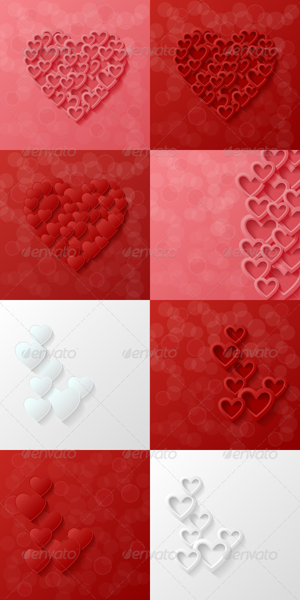 GraphicRiver Heart Background 7546187
