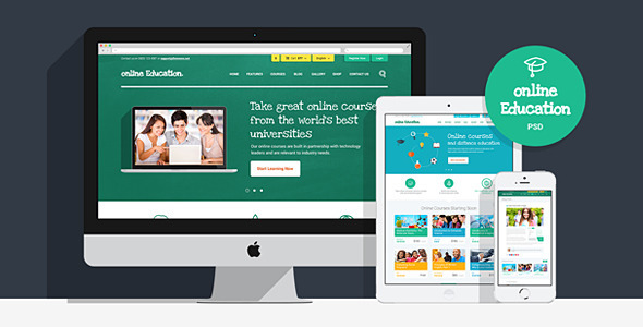ThemeForest Online Education PSD Template 7546320
